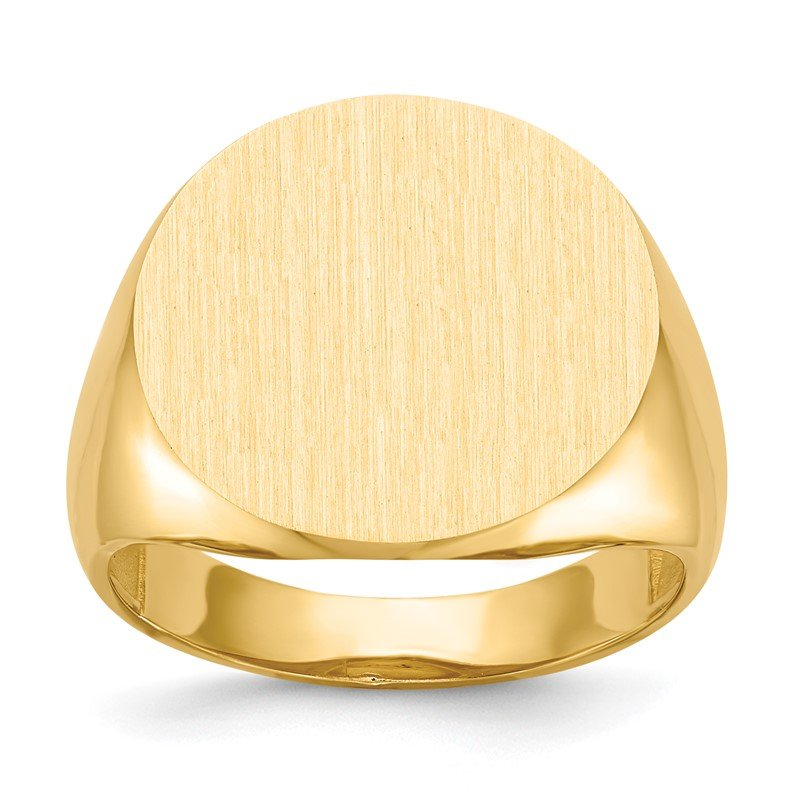 J.F. Kruse Signature Collection 14k 17.5x18.0mm Open Back Men's Signet Ring