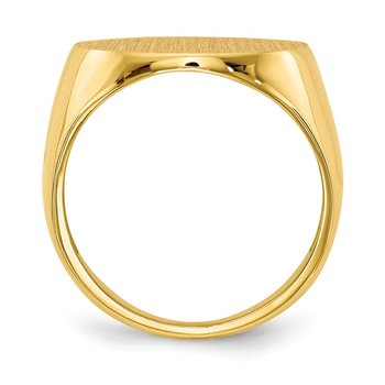 14k 17.5x18.0mm Open Back Men's Signet Ring