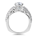 Valina Diamond Engagement Ring Mounting in 14K White Gold (1.37 ct. tw.)