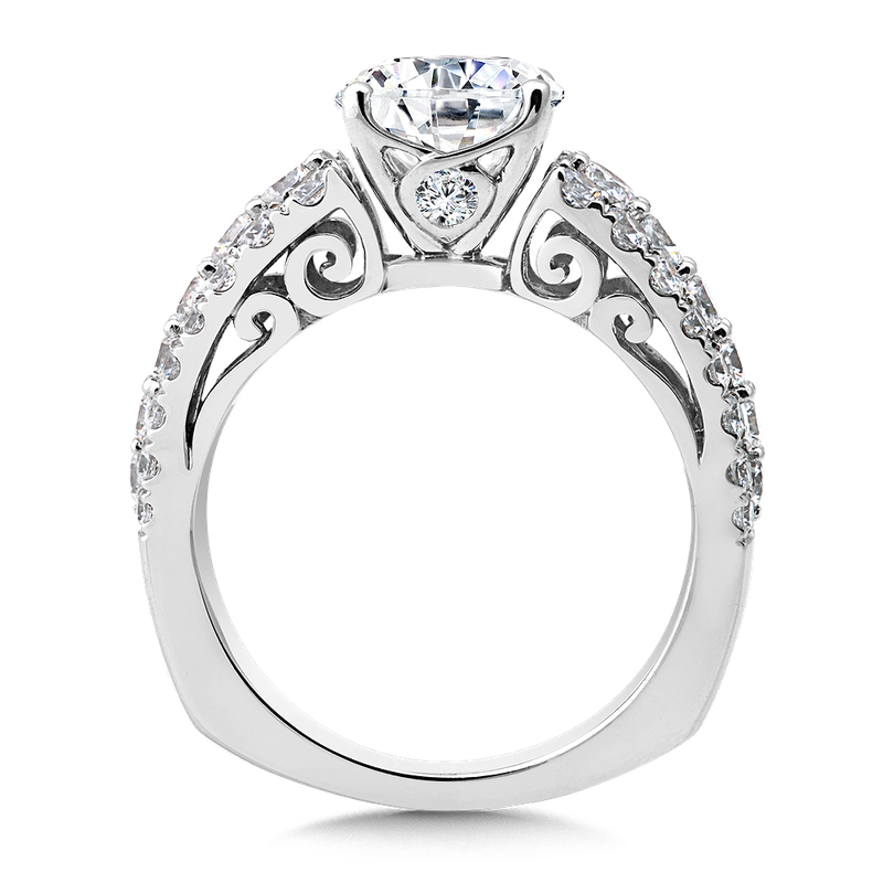 Valina Bridals Diamond Engagement Ring Mounting in 14K White Gold (1.37 ct. tw.)