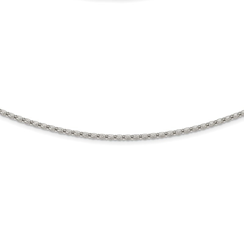 Quality Gold Sterling Silver Enclosed CZ Chain Necklace