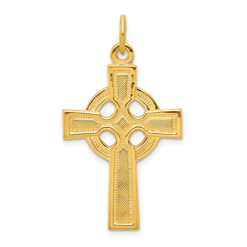 Quality Gold Sterling Silver & 24k Gold -plated Celtic Cross Pendant