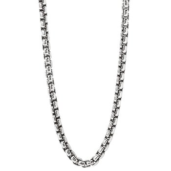 Sterling Silver Puff Link Chain