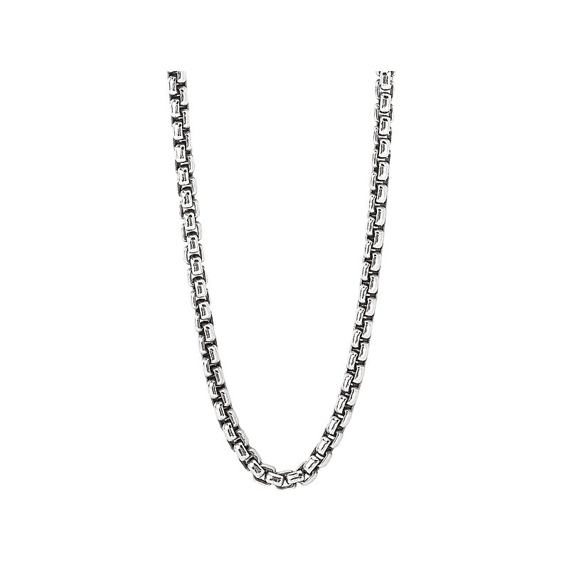 Eleganza Sterling Silver Puff Link Chain