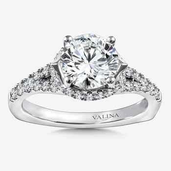 Diamond Engagement Ring Mounting in 14K White Gold (.49 ct. tw.)