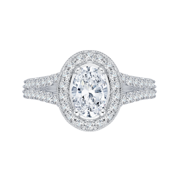 14 K White Gold Promezza Engagement Ring