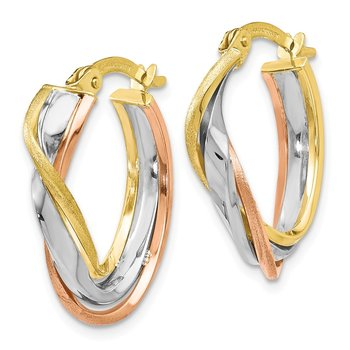 Leslie's 10K Tri-Color Earrings