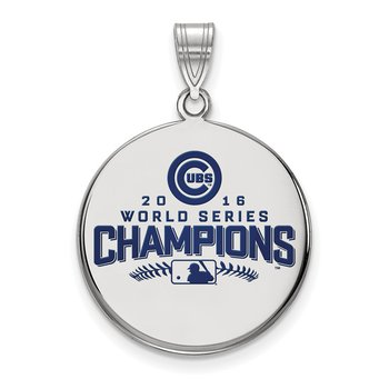 Sterling Silver Chicago Cubs MLB Pendant