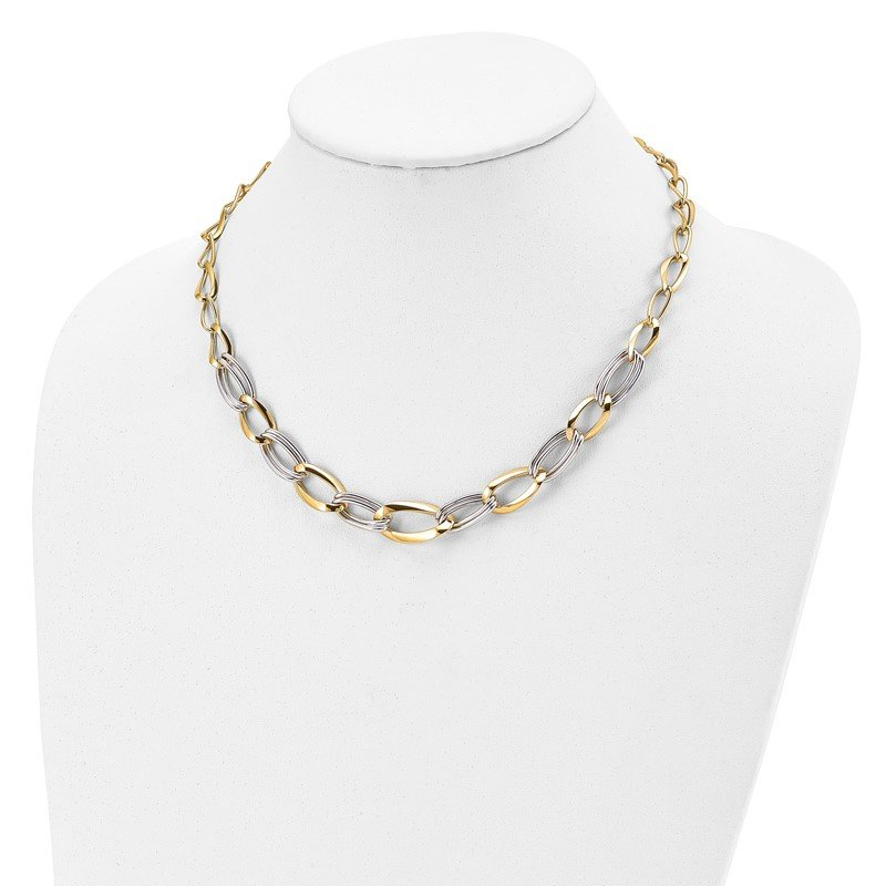 Leslie's Leslie's 14K Two-tone Polished with .5in ext. Necklace