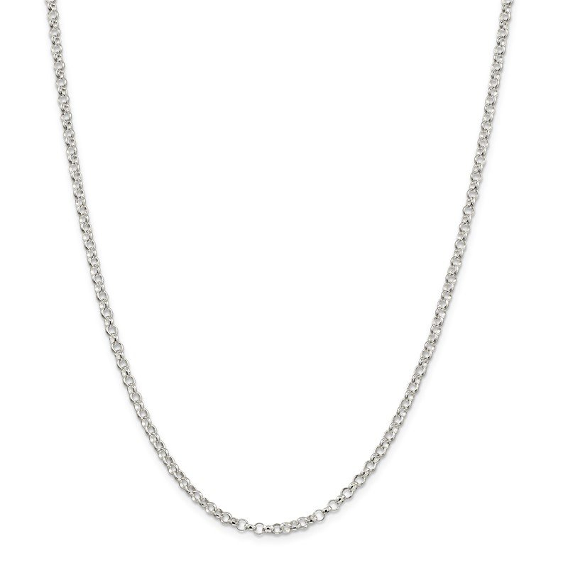 Quality Gold Sterling Silver 3mm Rolo Chain