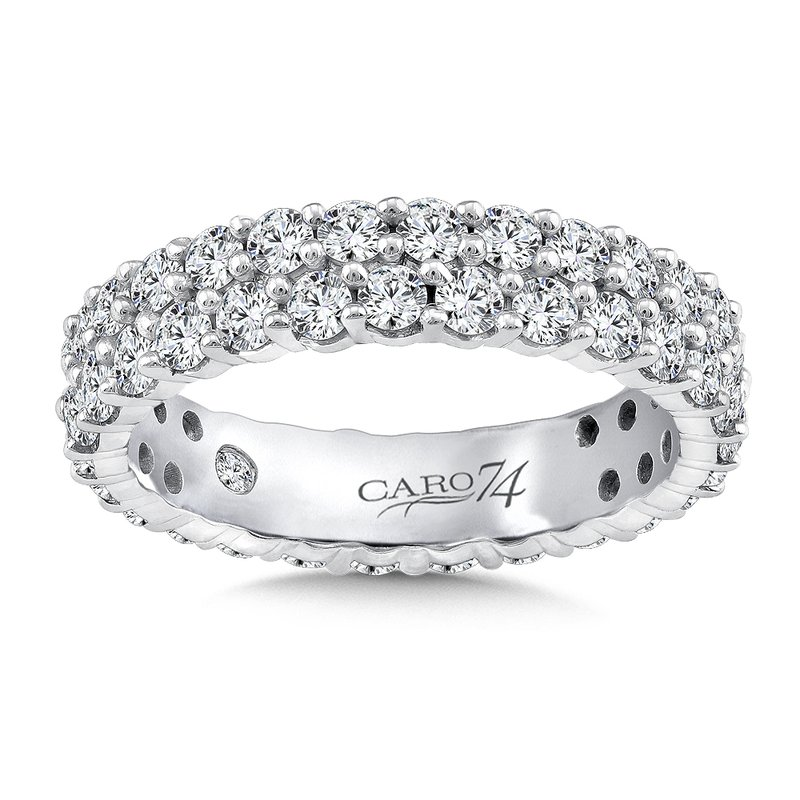 Caro74 Eternity Band (Size 6.5) in 14K White Gold (2.19ct. tw.)