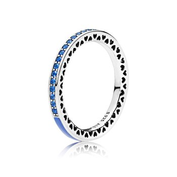 Radiant Hearts Of Pandora, Princess Blue Enamel Royal Blue Crystals