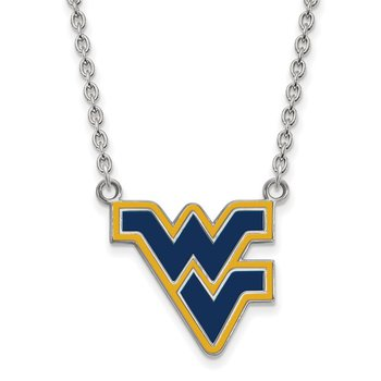 Sterling Silver West Virginia University NCAA Necklace