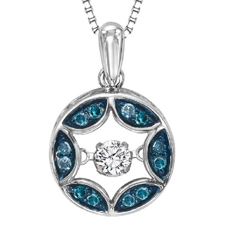 Rhythm of Love Silver Blue Diamond Rhythm Of Love Pendant