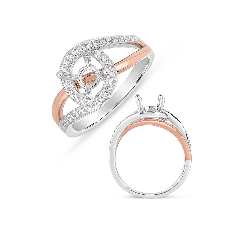 S. Kashi & Sons Bridal White & Rose Gold Engagement Ring