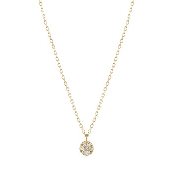 LILY | Diamond Disc Necklace