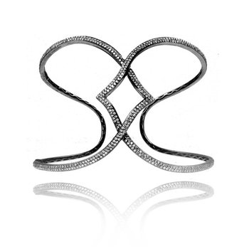 Diamond Interlocking Bangle