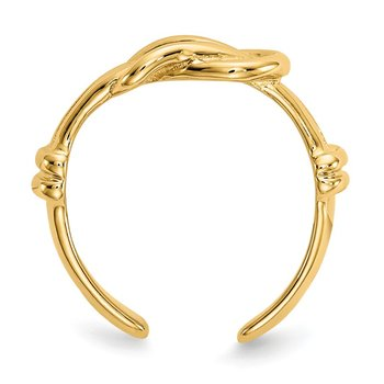 14k Love Knot Toe Ring