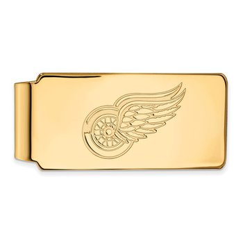Gold-Plated Sterling Silver Detroit Red Wings NHL Money Clip