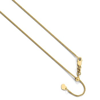 Leslie's 10K Yellow Gold 1 mm Adjustable Wheat Chain