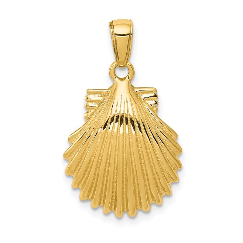 Quality Gold 14k Scallop Shell Pendant