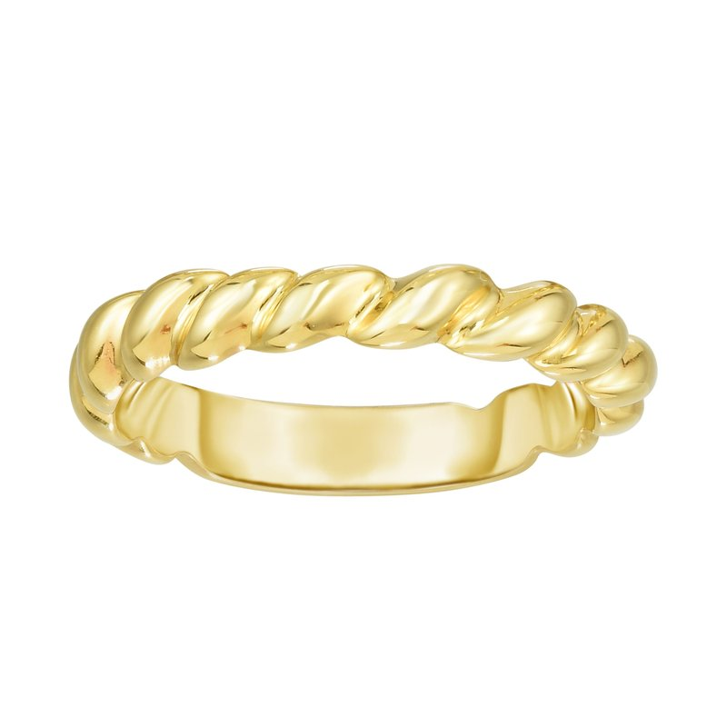 Royal Chain 14K Gold Thin Twisted Band