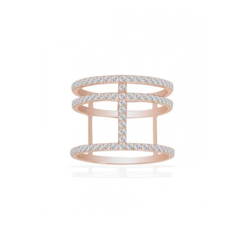 LARUS Jewelry Pink Abstract Ring