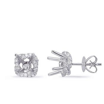White Gold Diamond Earring for 1cttw