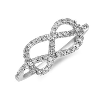 10K WG Diamond Infinity Crossover Ring