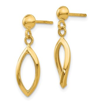 14k Post Dangle Earrings
