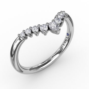 Prong Set Chevron Diamond Band