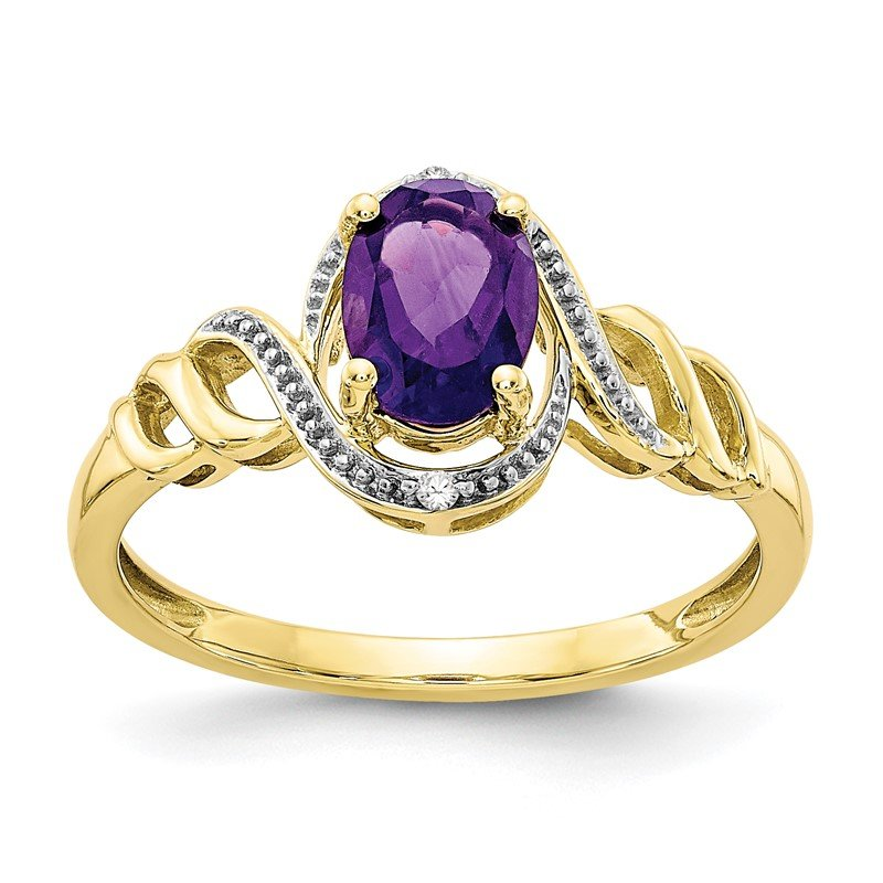 Lester Martin Online Collection 10K Amethyst and Diamond Ring