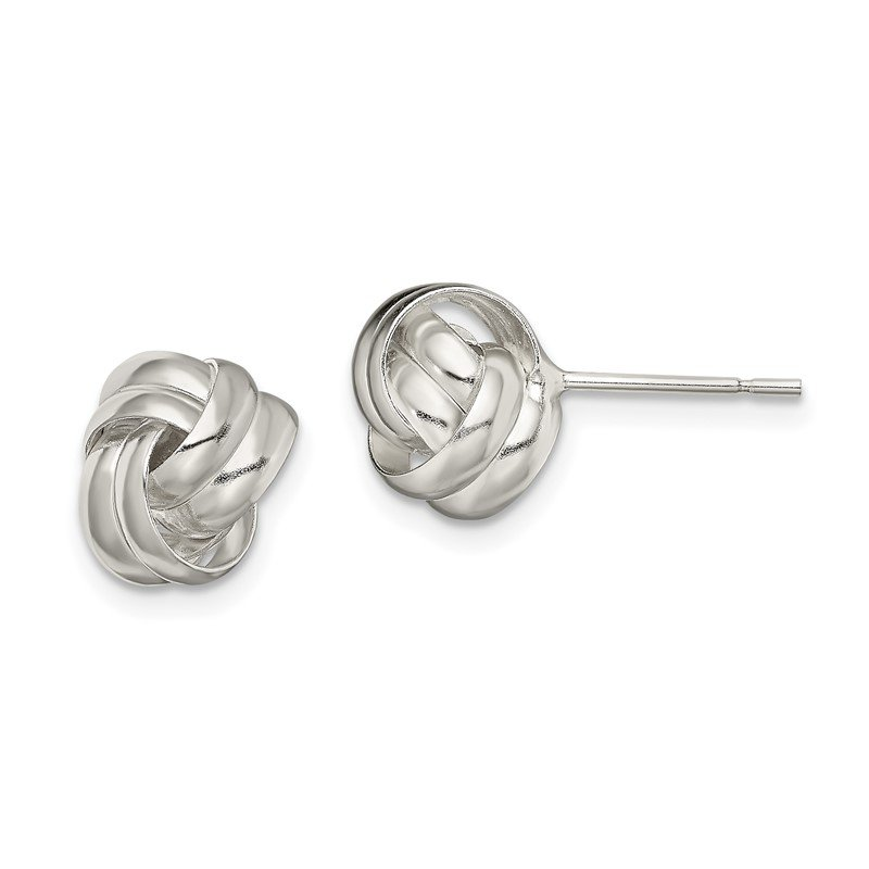 Quality Gold Sterling Silver Polished Love Knot Post Earrings