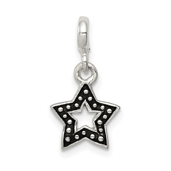 Sterling Silver Enameled Star Enhancer