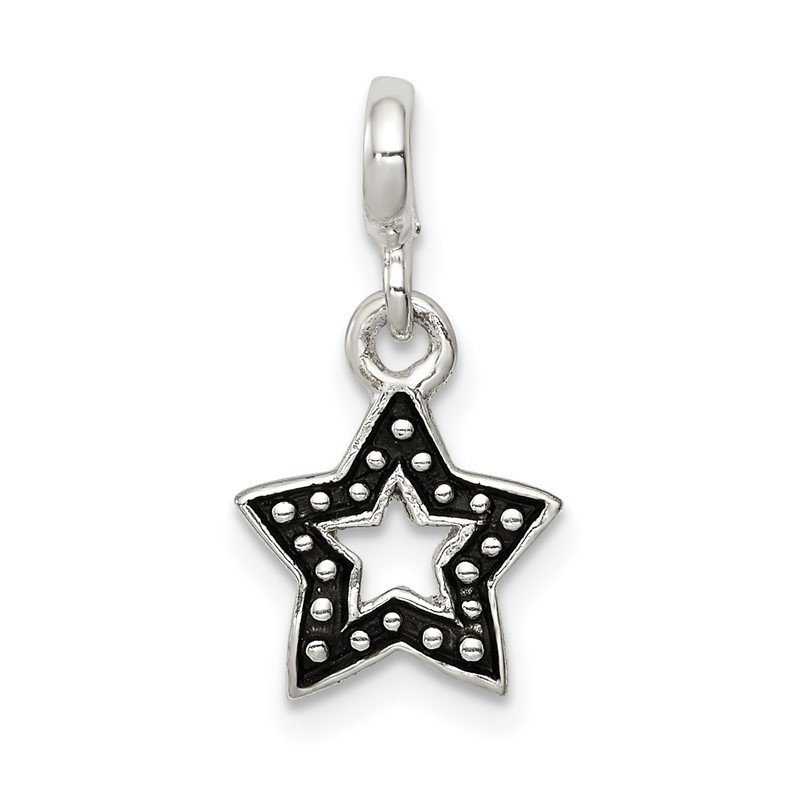 Quality Gold Sterling Silver Enameled Star Enhancer