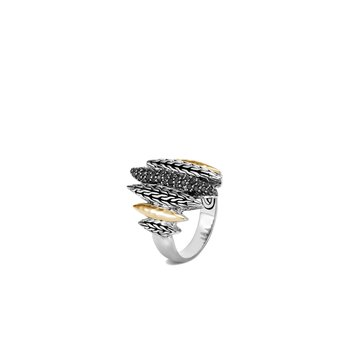 Classic Chain Spear Ring in Silver, 18K Gold, Gemstone