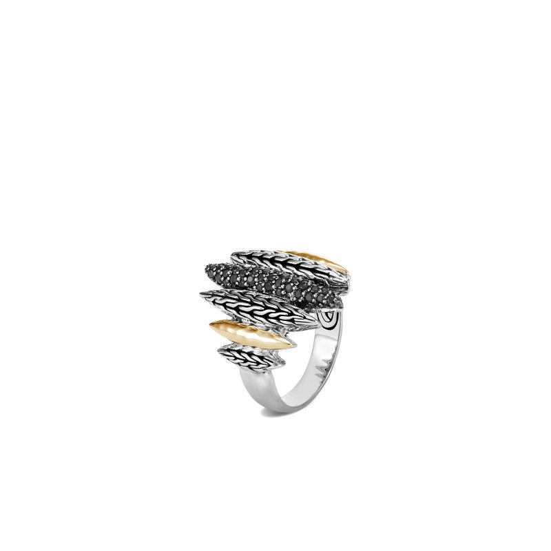 JOHN HARDY Classic Chain Spear Ring in Silver, 18K Gold, Gemstone