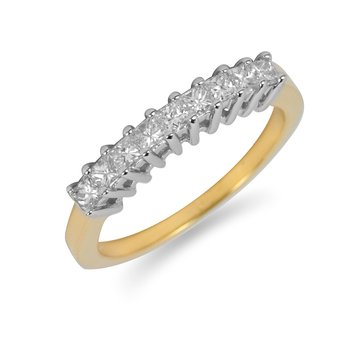 14K YG Princess Diamond Ring