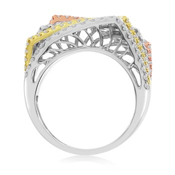 14k Multi Gold Diamond Ring