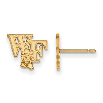 Gold-Plated Sterling Silver Wake Forest University NCAA Earrings