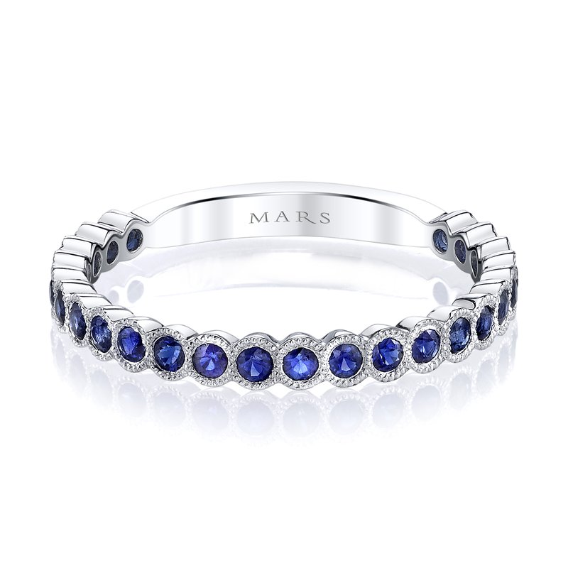 MARS Jewelry MARS 26259WGBS Stackable Ring, 0.51 Ctw.