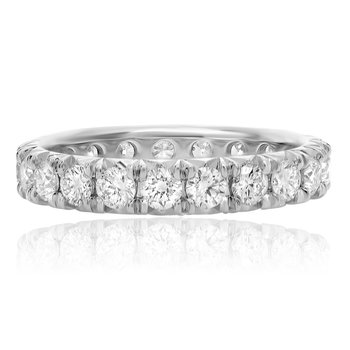 French Pave Diamond Eternity Band