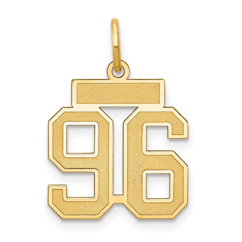 Quality Gold 14k Small Satin Number 96 Charm
