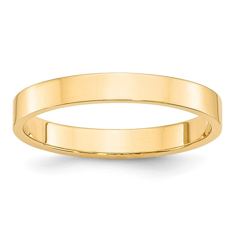 Quality Gold 14KY 3mm LTW Flat Band Size 10