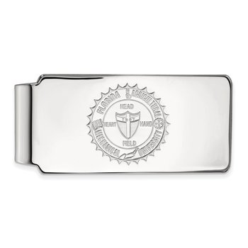 Sterling Silver Florida A&M University NCAA Money Clip