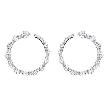 Alternating Round Wrap Around Hoop Earrings