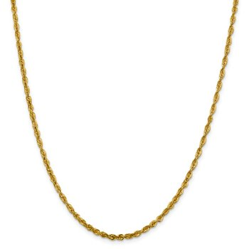 Leslie's 10K 3.0mm Diamond-Cut Lightweight Rope Chain