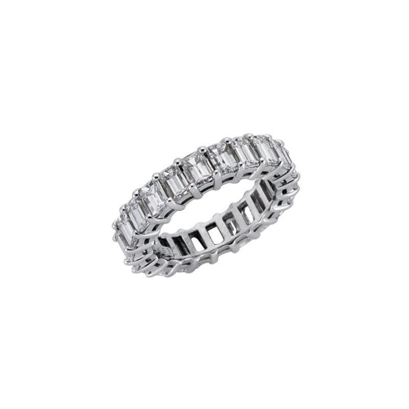 S. Kashi & Sons Bridal Platinum Emerald Cut Eternity Band