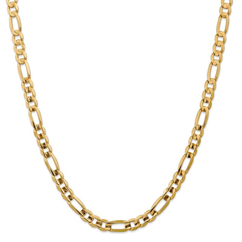 J.F. Kruse Signature Collection 14k 7.5mm Concave Open Figaro Chain