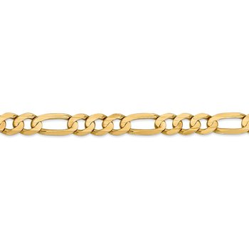 14k 7.5mm Concave Open Figaro Chain